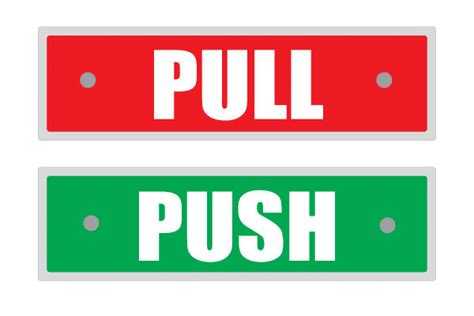 push pull signs poster template
