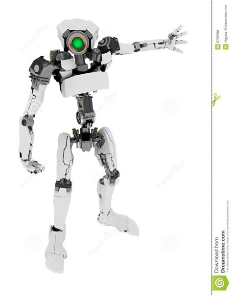 slim robot arm outstretched stock photo image