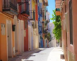 Villajoyosa  Spain  Costablanca  Colors  Streets  Callejon  Colores  Bright  Multicoloured
