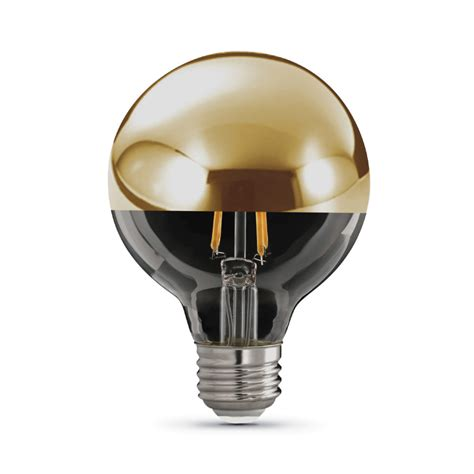 gold dome top decorative led light bulb feit electric