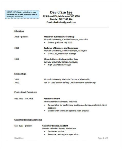 sle resume accounting no experience 28 images sle