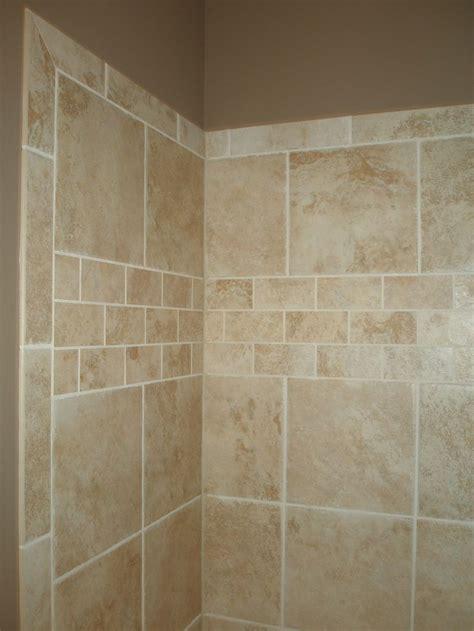 lavish shower tile installation patterns  ceramic tile