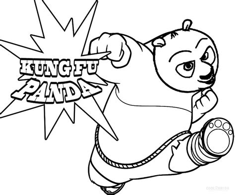 Free Coloring Pages Of Monkey Kung Fu Panda