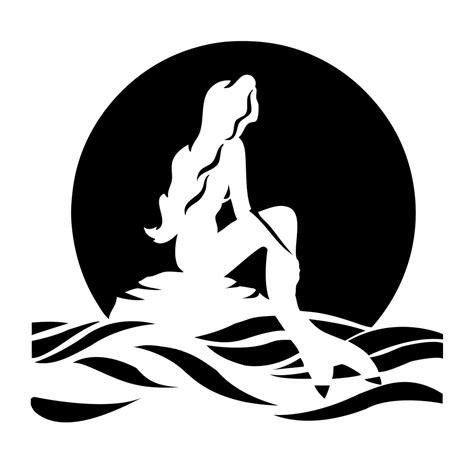 Little Mermaid And Flounder Pumpkin Stencil by Little Mermaid Silhouette Free Download Clip Art Free