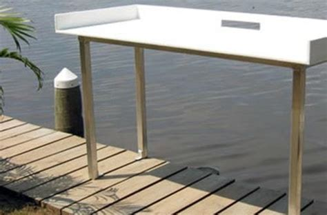 aluminum fish cleaning table boat dock fish cleaning table