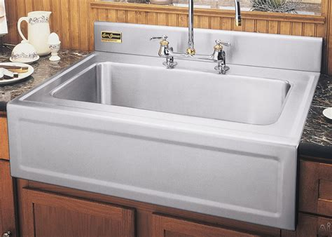 kitchen sinks with backsplash elkay 3626egsf 36 quot apron front single bowl stainless steel 6097