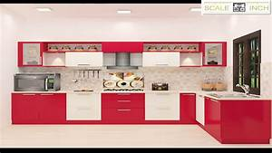 L Shaped Modular Kitchen Designs By Scale Inch YouTube