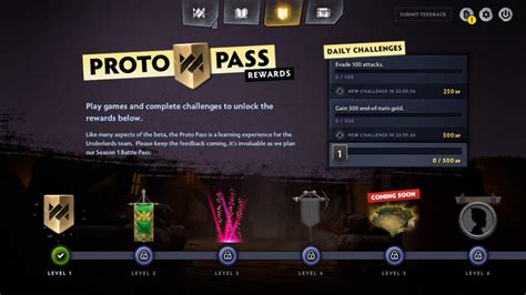 dota underlords proto pass guide battle pass challenges rewards new board