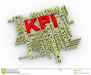 3d Kpi Word Tags Stock Illustration  Illustration Of