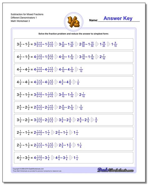 adding mixed fractions   denominators