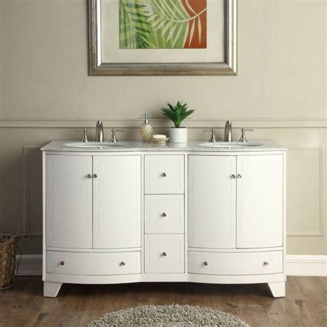 Marble Top Bathroom Cabinet by 60 Quot Sink Vanity Carrara White Marble Top Bathroom