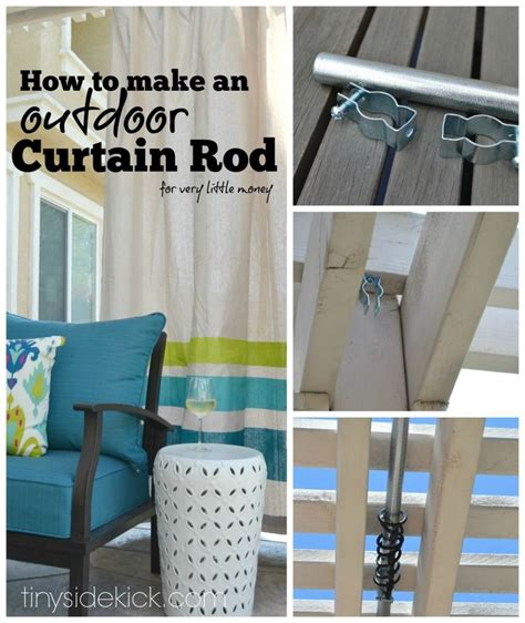 17 best ideas about outdoor curtain rods on