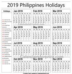 holidays calendar images