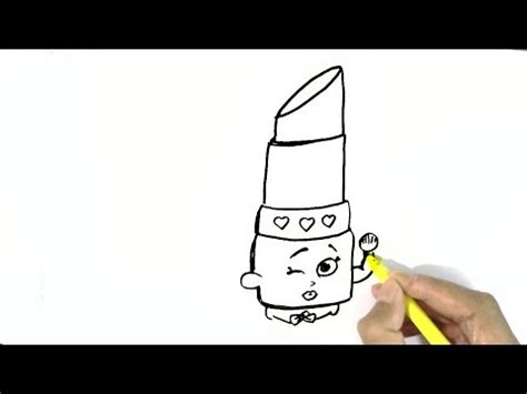 draw lippy lips shopkins  easy steps
