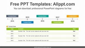 Simple Table Timeline Powerpoint Diagram Template