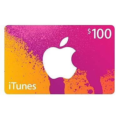 100 itunes gift card staples