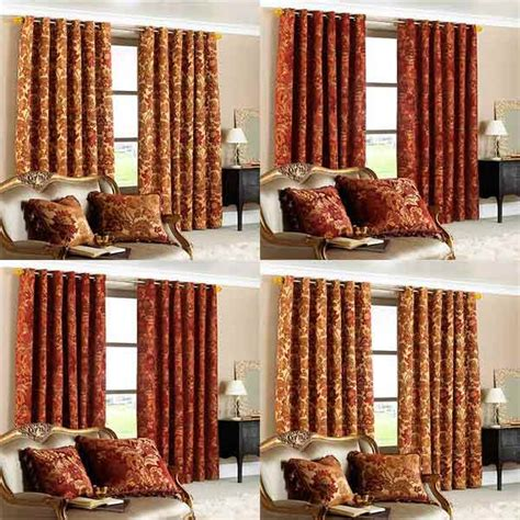 paoletti belgravia chenille jacquard lined eyelet curtains