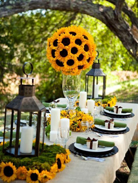 Dekorieren Mit Sonnenblumen by H 252 Bsche Varianten F 252 R Hochzeit Tischdekoration Archzine Net