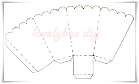 Popcorn Container Template by Lovely Box Diy
