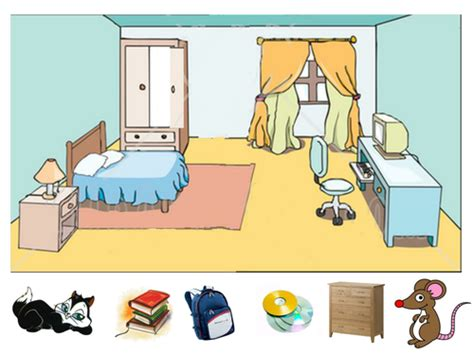 Using Prepositions In The Bedroom By Emle86 Teaching