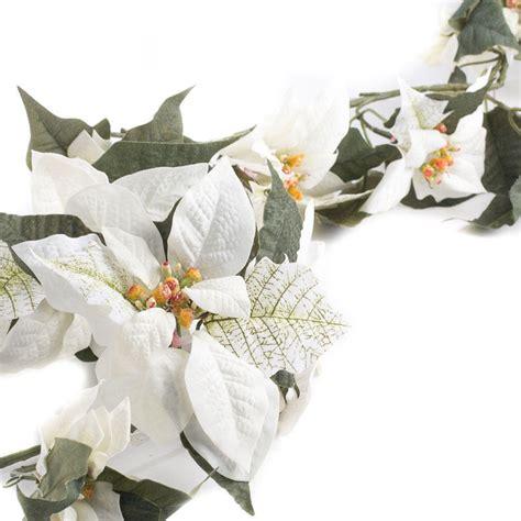white velvet artificial poinsettia garland garlands