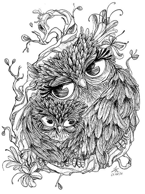 Pin by txeargila on Zentangles i més | Pinterest | Owl, Tattoo and Coloring books