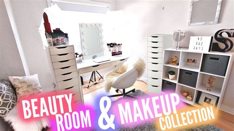 huge beauty room   makeup collection youtube
