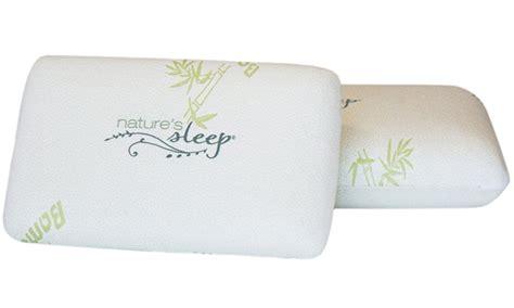 natures sleep pillows nature s sleep bamboo gel infused memory foam pillows 1