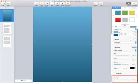 Change Color Of Image How To Change The Background Color Of An Apple Pages Document