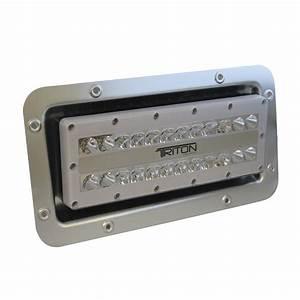 Lumitec triton led semi recessed ip flood light