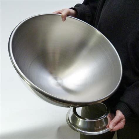cuisiner sans viande très grand bol pâtissier ou cul de poule inox 40 cm avec