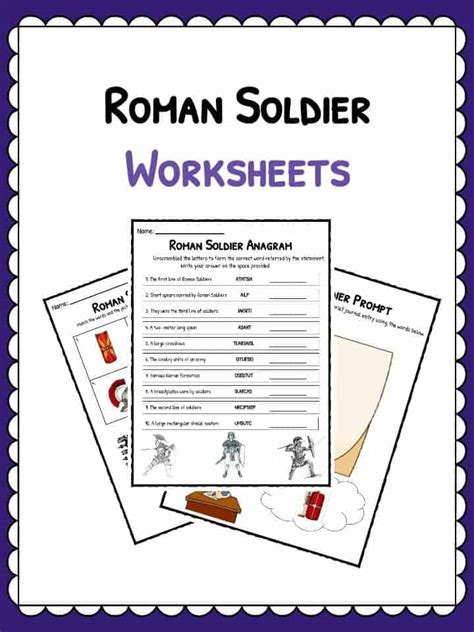 roman soldier facts worksheets kids study resource