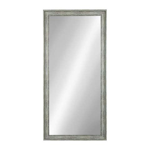 kate  laurel mckinley rectangle teal mirror