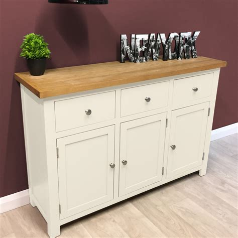 White And Oak Sideboard by Belgravia White Painted Oak Sideboard Large Oak