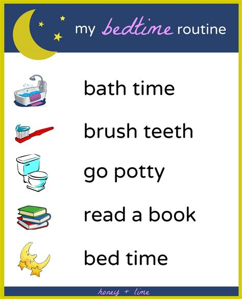 preschool bedtime routine chart brush book bed a printable bedtime routine chart for 443
