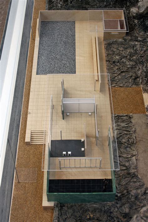 Mies Der Rohe Barcelona Pavillon by Model Of Barcelona Pavillon By Ludwig Mies Der Rohe