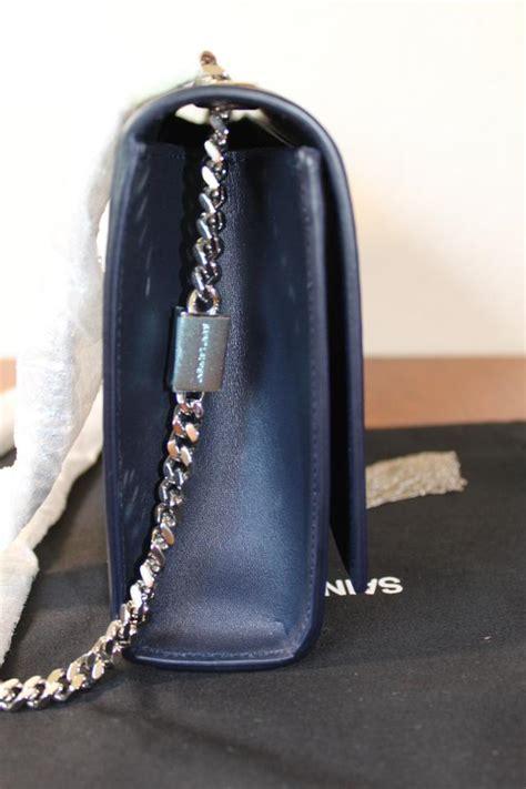 saint laurent monogram kate crossbody ysl medium monogram deep marine leather shoulder bag tradesy