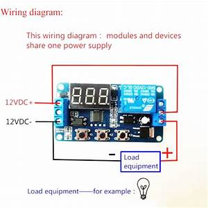 12v Led Display Delay Timer Control Switch Buzzer Module 2  3 Position  Case New