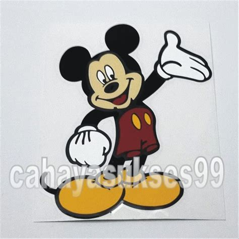 jual sticker mobil mickey mouse koleksi plastic stiker