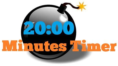 20 Minutes Countdown Timer Alarm Clock