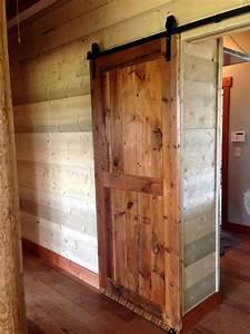 Sliding barn door barn wood furniture rustic barnwood for Barnwood pocket door