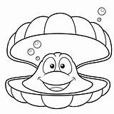 Coloring Shell Concha Cartoon Clam Mar Colorear Dibujos Oyster Drawing Animados Outline Pearl Clipart Conchas Sararoom Coperture Fumetto Illustrazione Poster sketch template