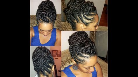 Flat Twist Hairstyles by Hair Flat Twist Updo Protective Hairstyle
