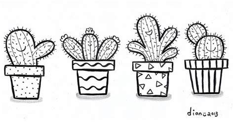 paling baru gambar sketsa bunga kaktus