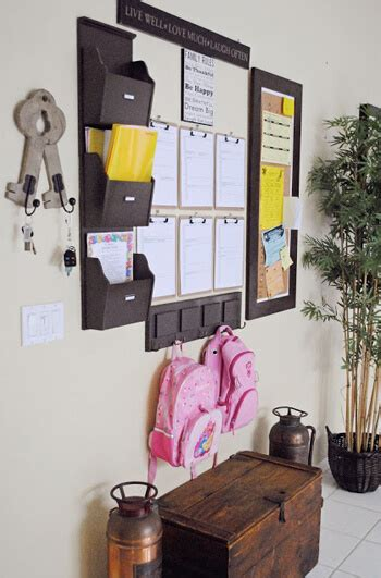 hidden family command center  staying organized