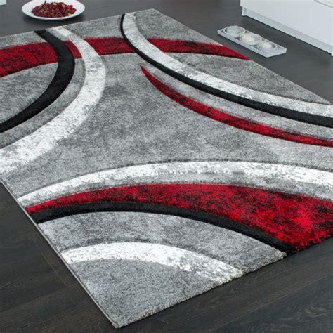 designer teppich streifen modell grau rot teppichcenter