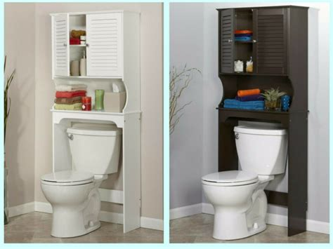 bathroom   toilet space saver storage cabinet shelf