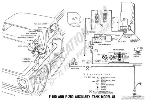 Ford F 350 Fuel Tank Diagram by Ford Truck Technical Drawings And Schematics Section H