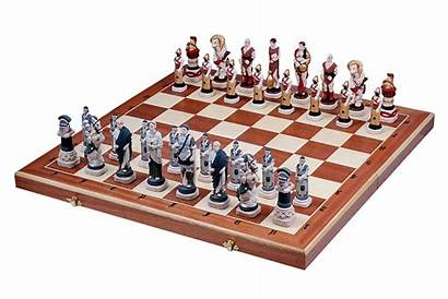 Chess Spartacus Wooden Painted Pieces Stone Sets