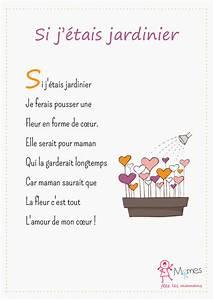 poeme fete des meres quotsi j39etais jardinierquot momesnet With affiche chambre bébé avec bouquet de fleurs anniversaire 70 ans